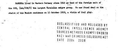 Dokumenty CIA o Štěpanu Banderovi