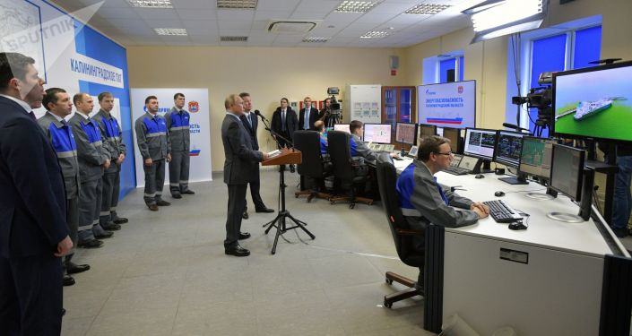 Vladimir Putin uvedl do provozu plynový terminál v Kaliningradu