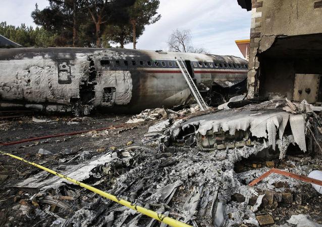 Místa havárie Boeingu 707 v Íránu