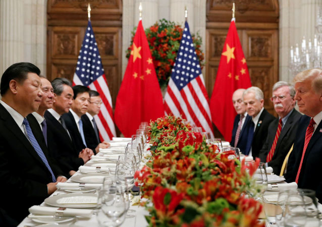 Jednání čínského prezidenta Si Ťin-pchinga a jeho amerického protějška Donalda Trumpa