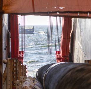 Roury pro Severní proud 2 na lodi Solitaire