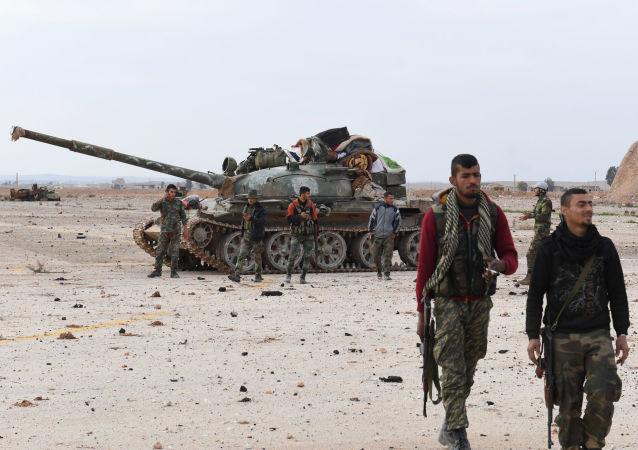 Syrská vládní vojska v provincii Idlib