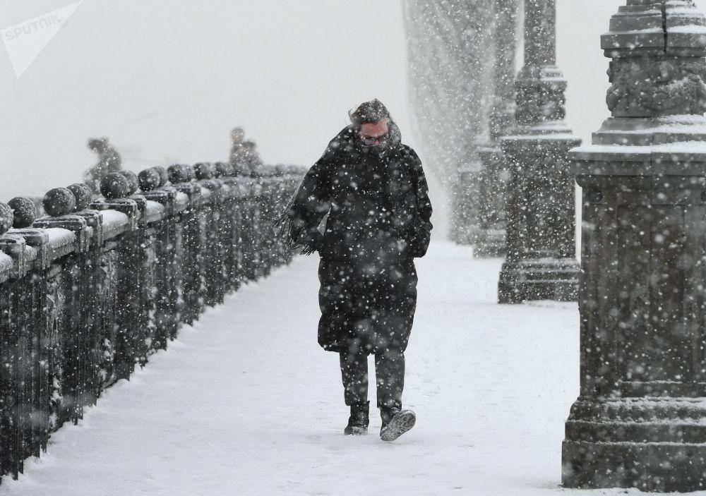Sněhová apokalypsa v Moskvě