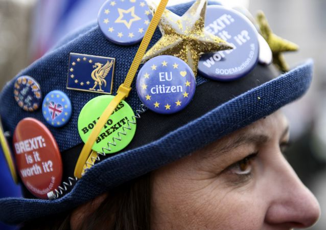 Protestní akce proti brexitu v Londýně