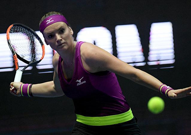 Tereza Martincová na turnaji v Petrohradu