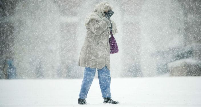 Sněhová bouře v USA