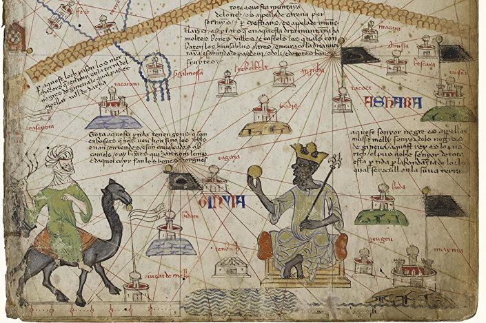 Katalánský atlas z roku 1375 je nejvýznamnější katalánská mapa 14. století
