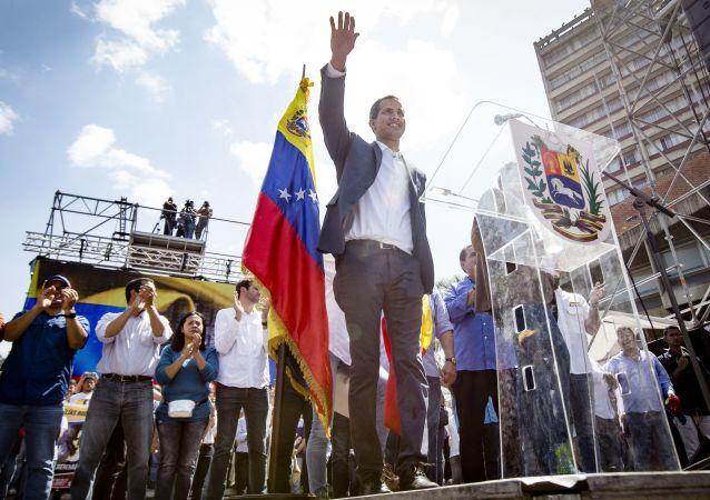 Předseda Národního shromáždění Venezuely Juan Guaidó