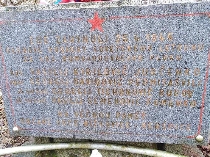 Jmenný památník sovětským vojákům u Jalového dvora