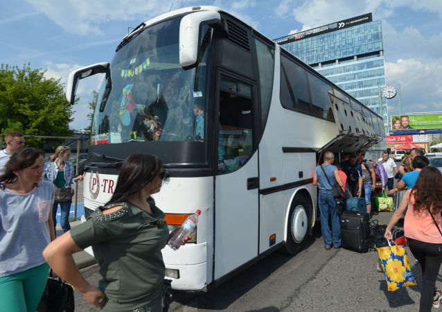 Autobus směr z Černovic do Varšavy