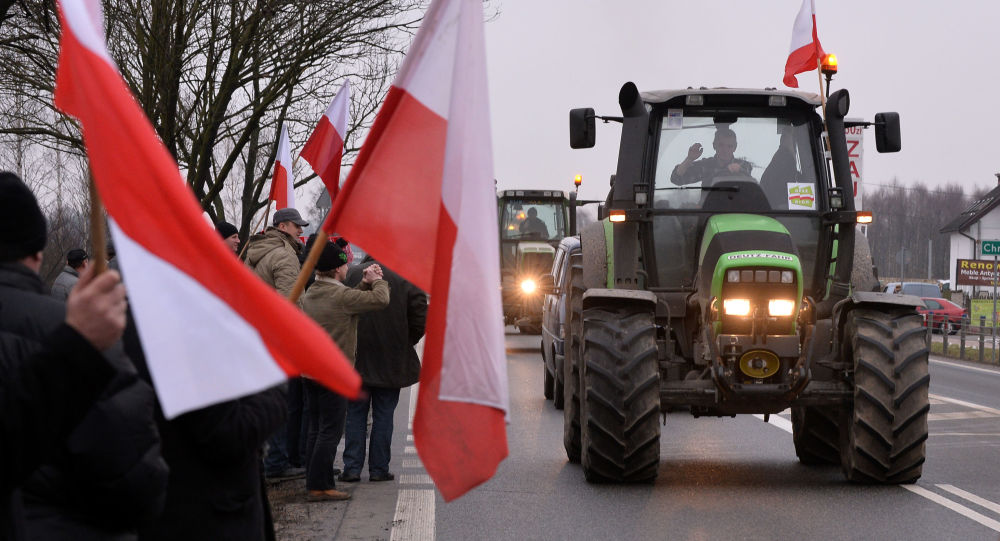 Protesty polských farmářů. Ilustrační foto