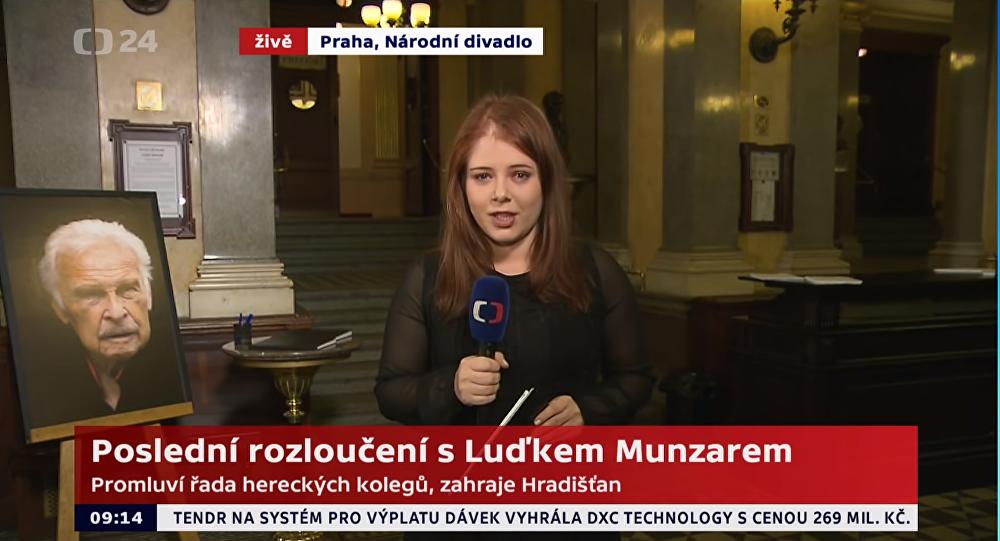Luděk Munzar: Přelet rakve nad Národním divadlem - přebrept na ČT24 (1. 2. 2019)