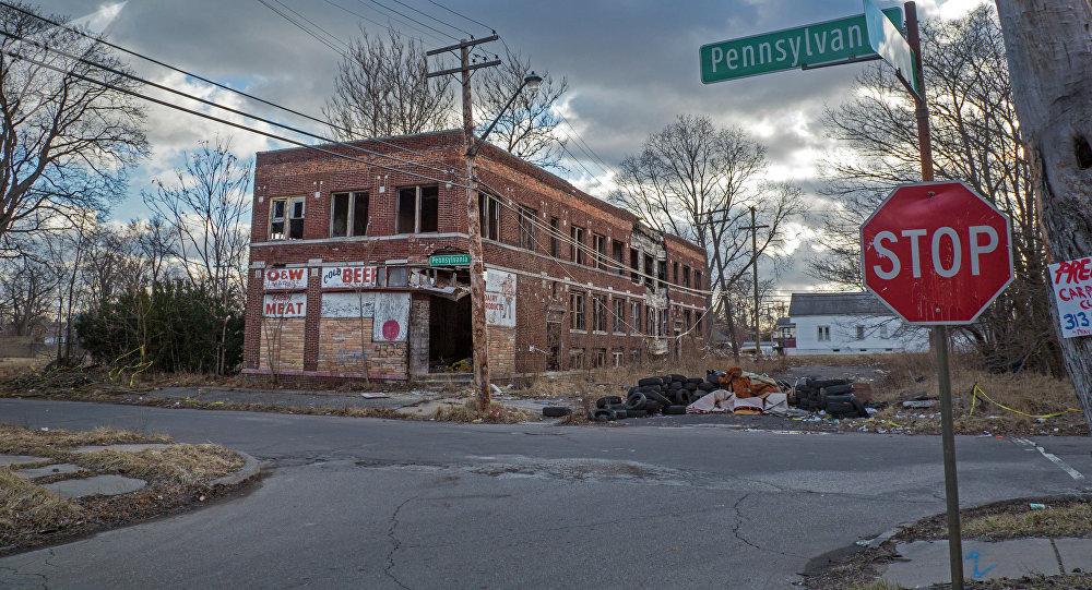 Opuštěné budovy v Detroitu