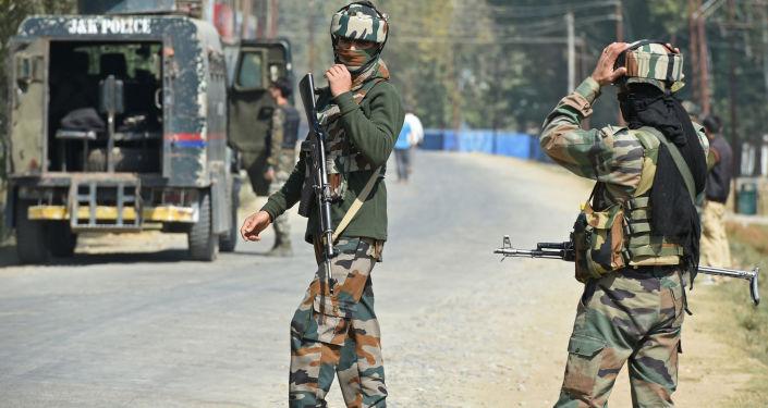 Indičtí vojáci v Kašmíru