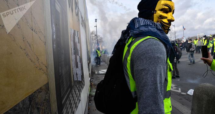 Protesty žlutých vest v Paříži