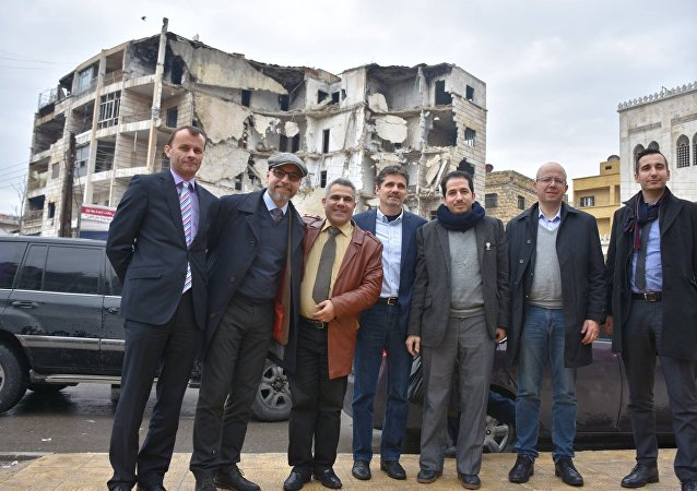 Člen české humanitární mise v Sýrii Stanislav Mackovík v Aleppu