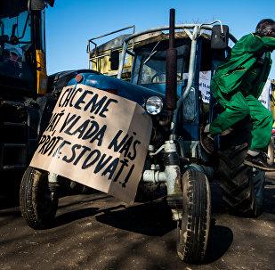 V Bratislavě protestují zemědělci