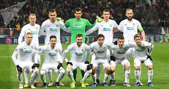 Fotbalisté Plzně před zápasem Ligy mistrů v Moskvě