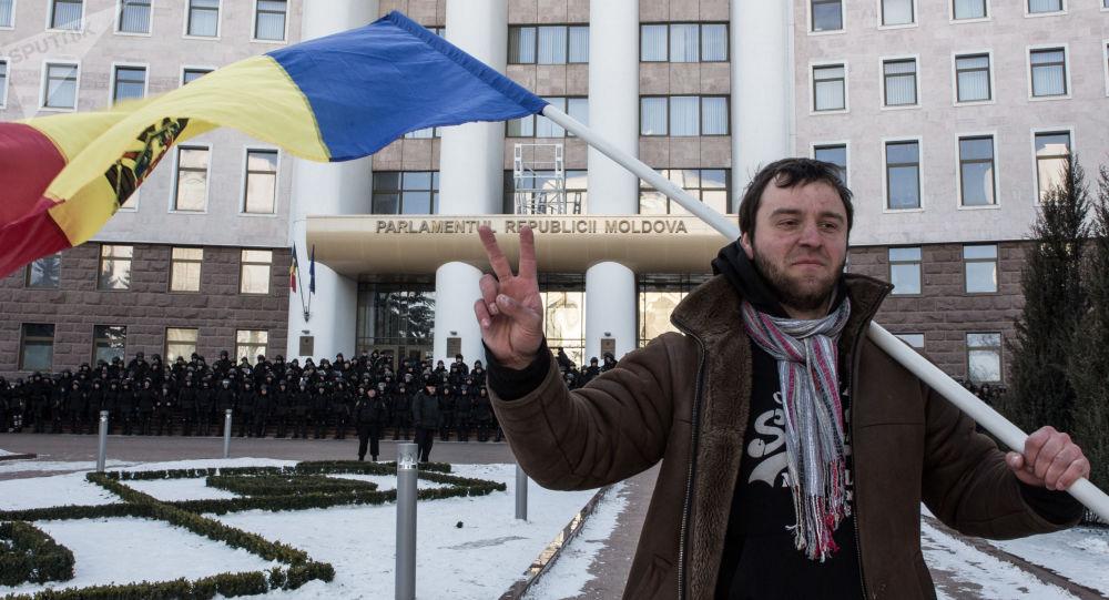 Protestní akce v Kišiněvě. Ilustrační foto