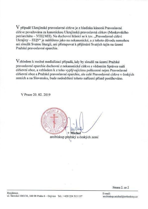 Nařízení arcibiskupa pražského a českých zemí