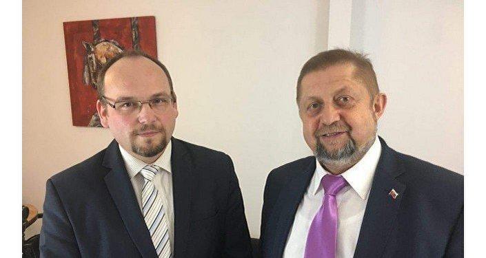 Na snímku Anton Chromík a Štefan Harabin