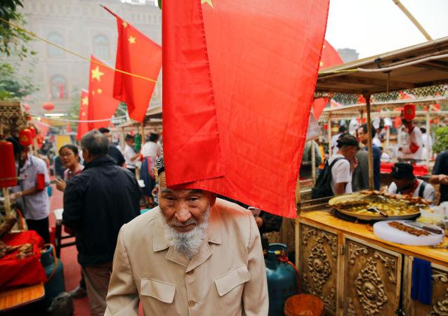 Trh v Kašgaru, Čína