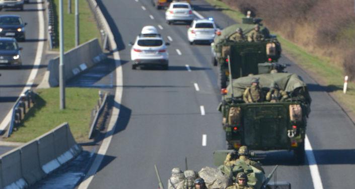 Americký konvoj v Česku. Ilustrační foto