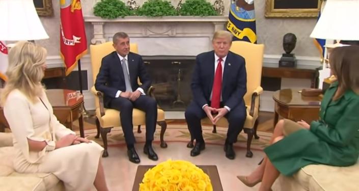 Česká republika je skvělá a silná. Trump a Babiš hovořili před novináři v Oválné pracovně