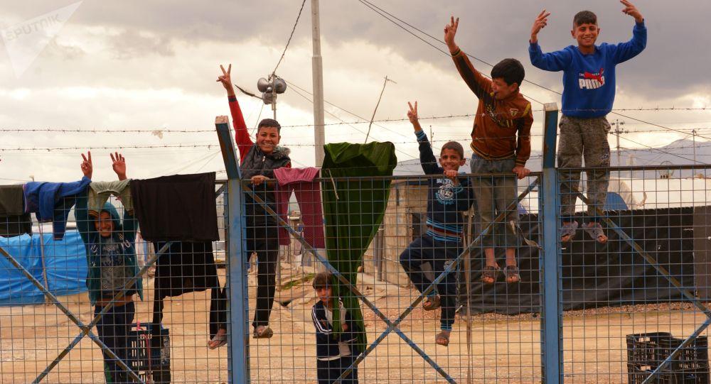 Děti v syrském uprchlickém táboře, Irák
