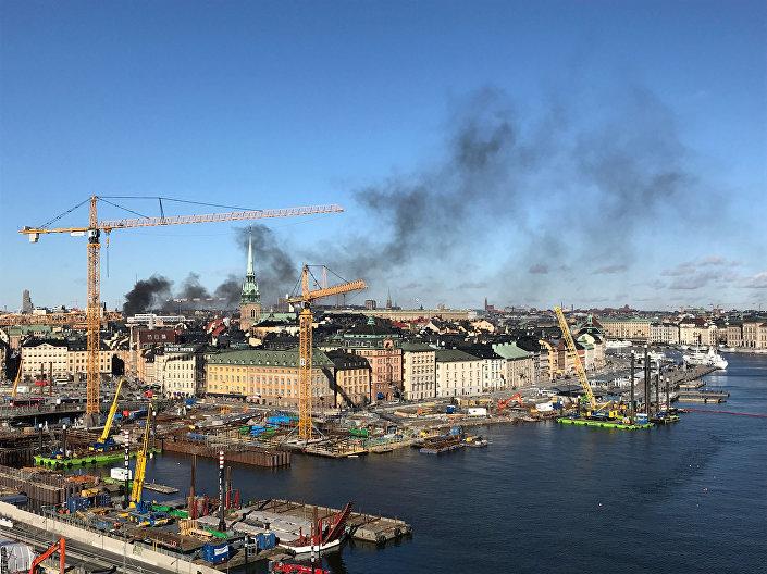 Autobus vybuchl v centru Stockholmu