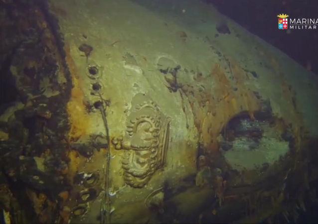 fragmenty křižníku Giovanni Delle Bande Nere