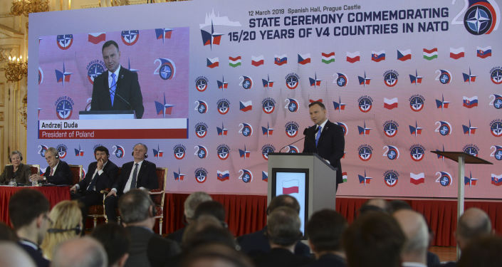 Polský prezident Andrzej Duda v Praze
