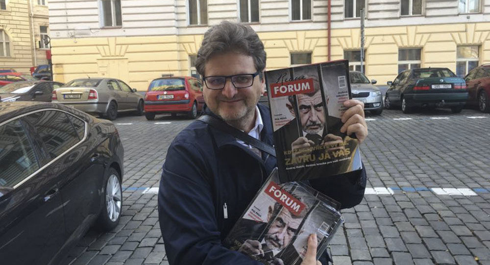 Český novinář Pavel Šafr