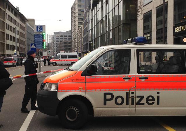 Automobil švýcarské policie. Ilustrační foto