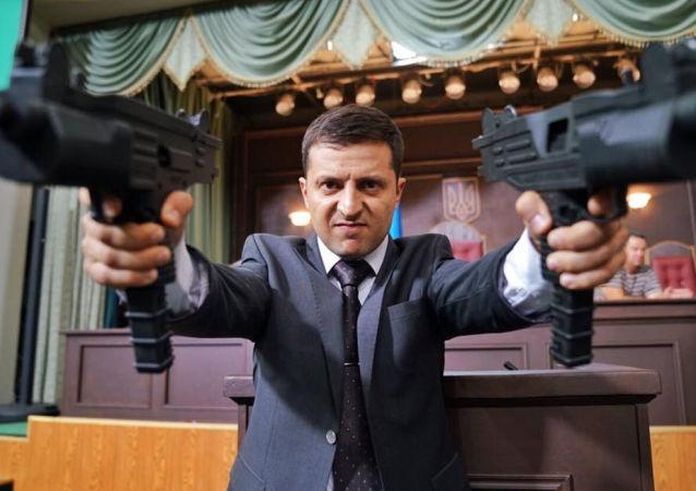 Volodymyr Zelenskyj v seriálu Sluha národu 2
