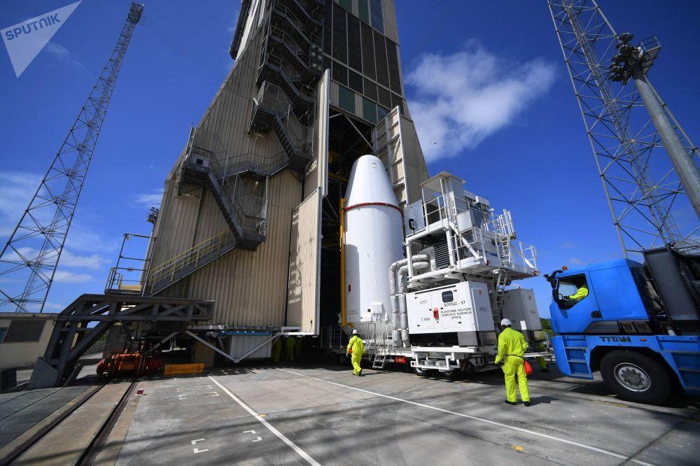 Přeprava evropských satelitních zařízení O3b