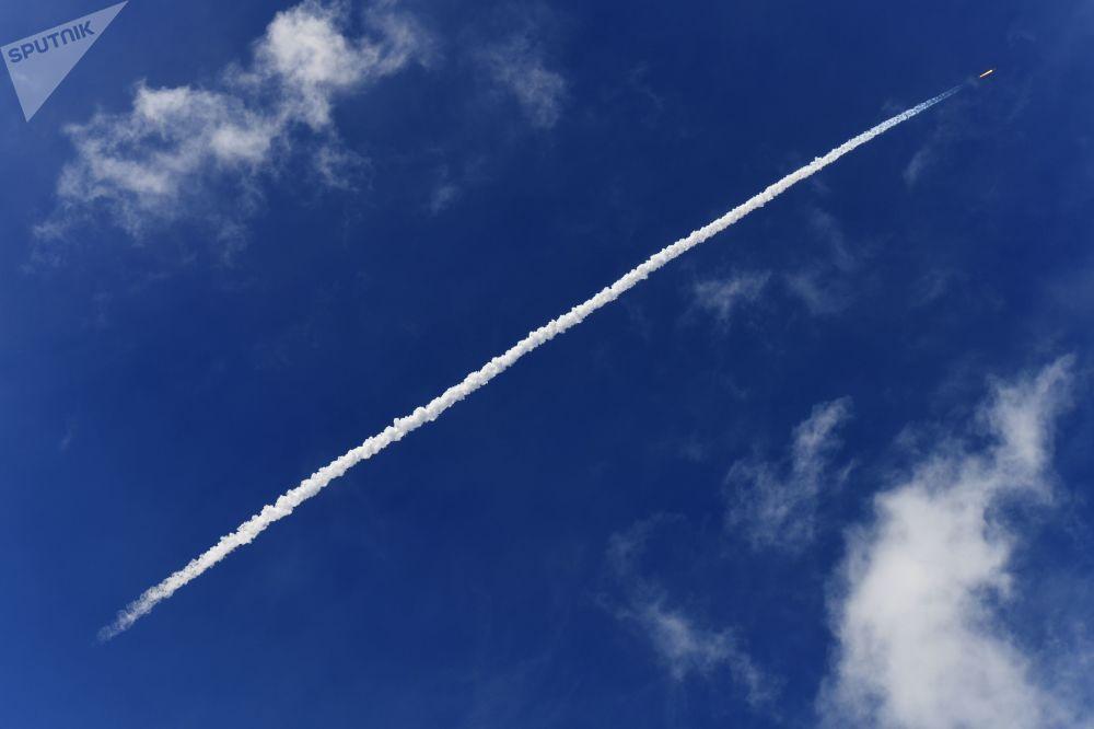 Start rakety Sojuz-ST z Guyanského kosmického centra