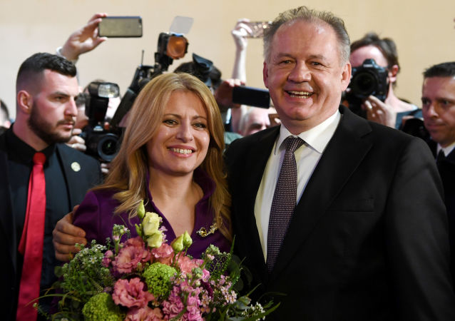 Prezident SR Andrej Kiska a Zuzana Čaputová