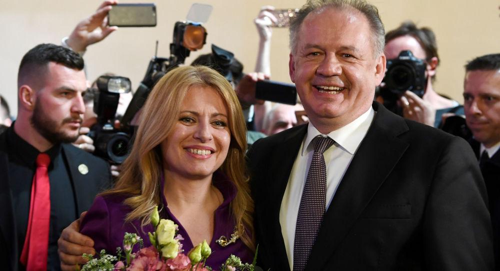 Prezident SR Andrej Kiska a Zuzana Čaputová.
