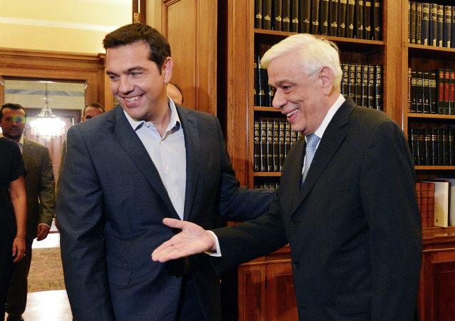 Alexis Tsipras a Prokopis Pavlopulos