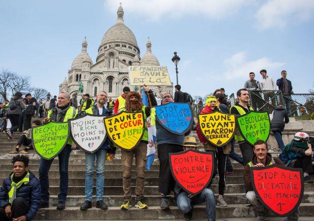Akce protestu žlutých vest v Paříži