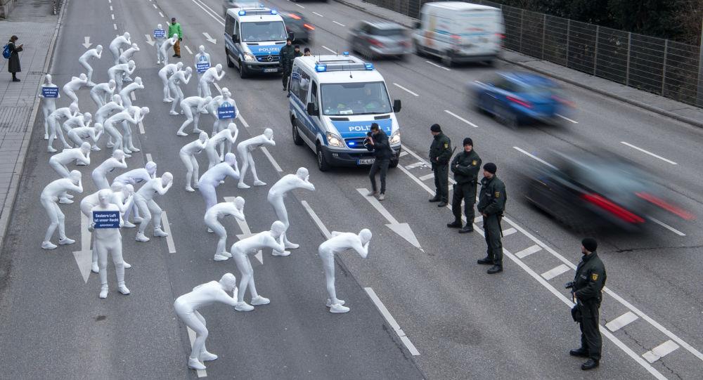 Greenpeace protestuje v Německu