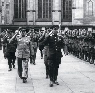 Maršál Sovětského svazu, dvakrát Hrdina Sovětského svazu Ivan Koněv