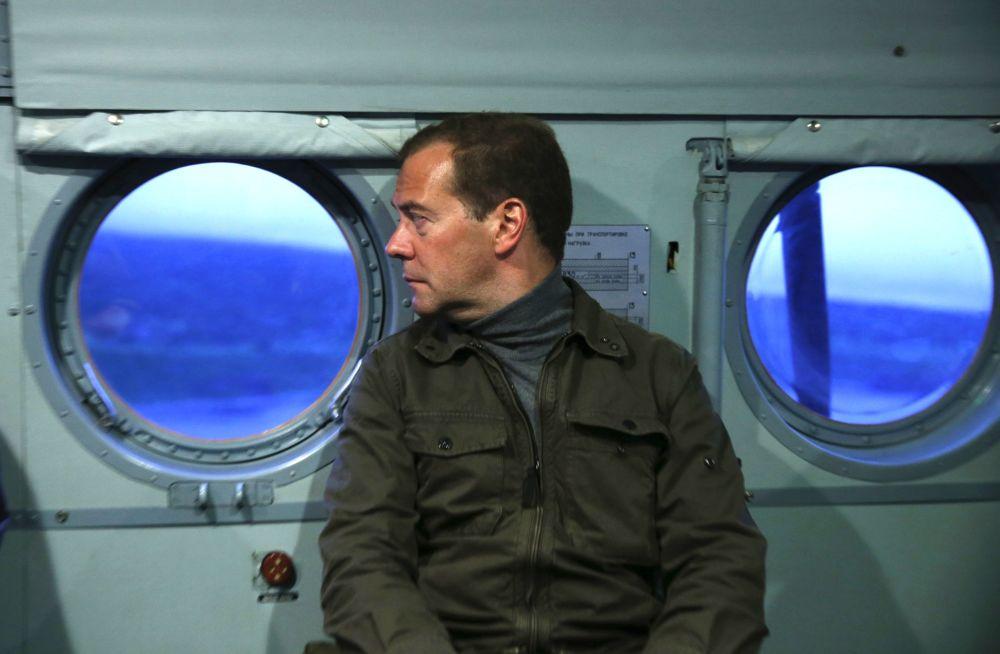 Medveděv na ostrově Iturup