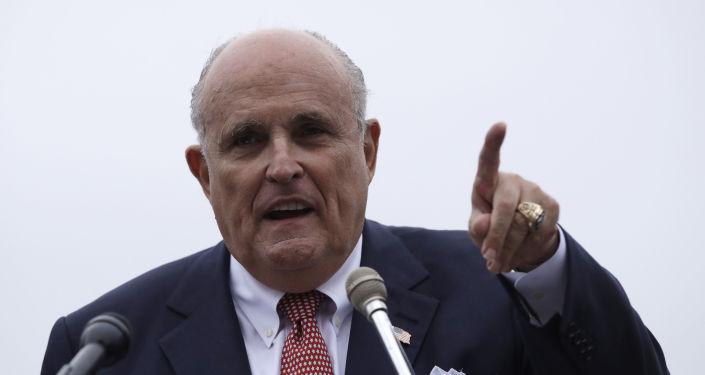 Advokát prezidenta USA Donalda Trumpa Rudy Giuliani