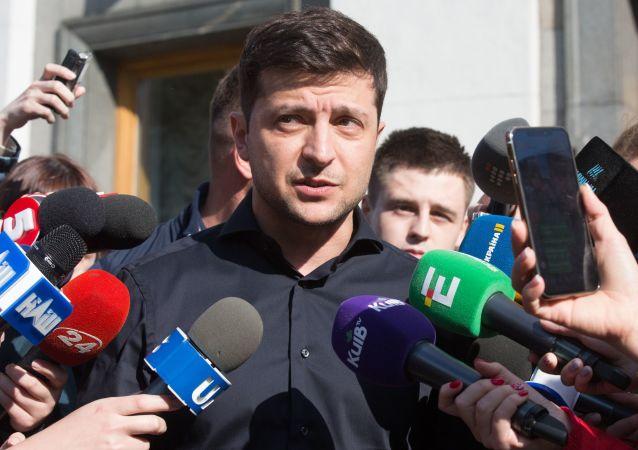 Nový zvolený ukrajinský prezident Volodymyr Zelenský