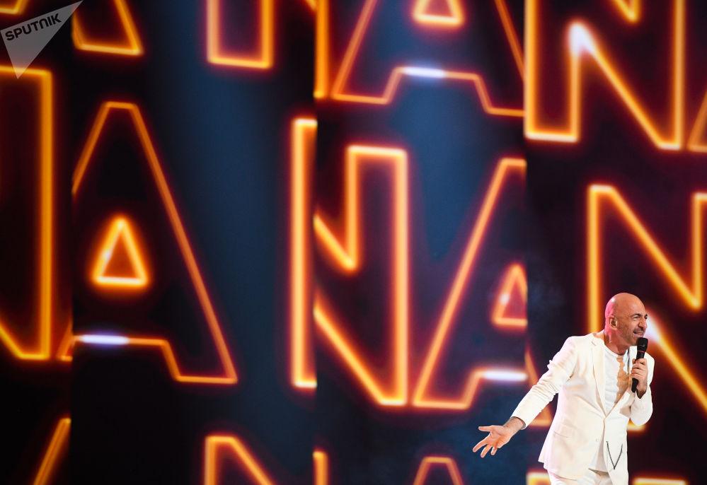 Ahmet Serhat – reprezentant San Marina s písní Say Na Na Na během zkoušky prvního semifinále Eurovize 2019 v Tel Avivu