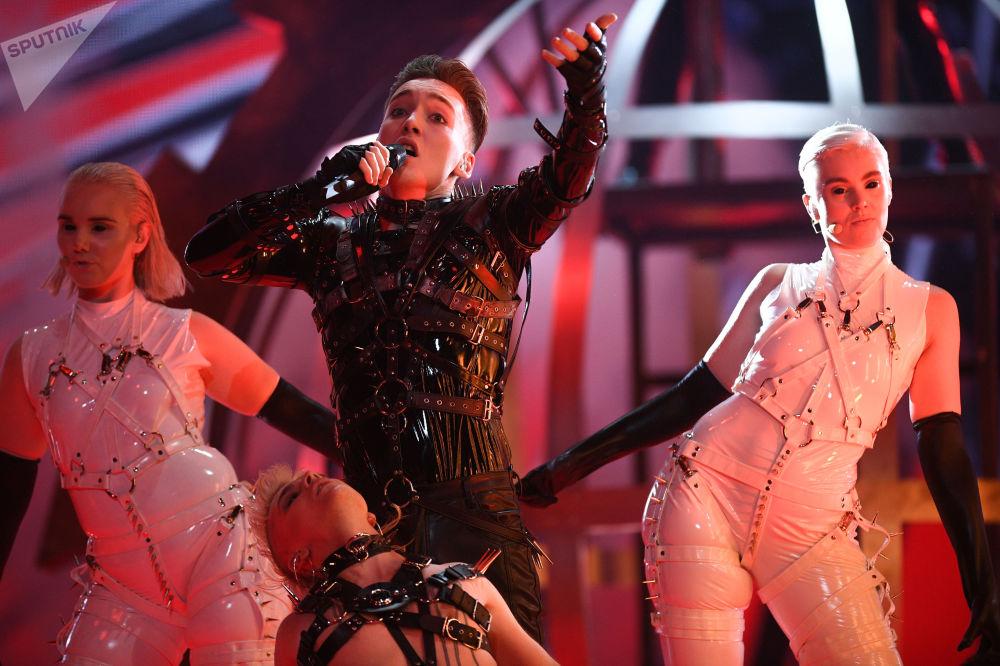 Hatari - reprezentantka Islandu s písní Hatrið mun sigra během zkoušky prvního semifinále Eurovize 2019 v Tel Avivu