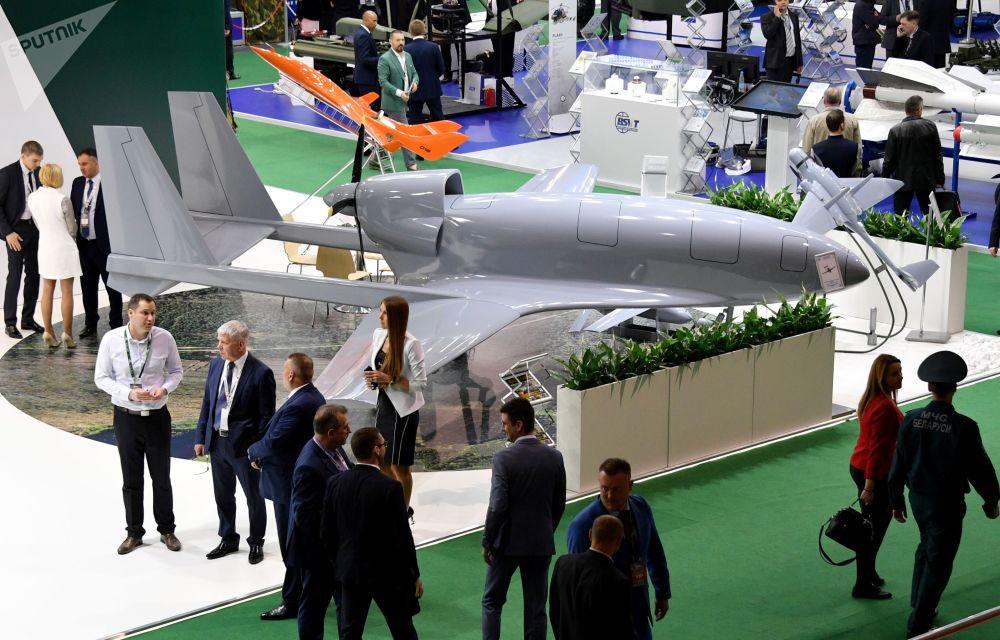 Bezpilotní letecký systém na mezinárodní výstavě zbraní a vojenské techniky MILEX-2019 v Minsku