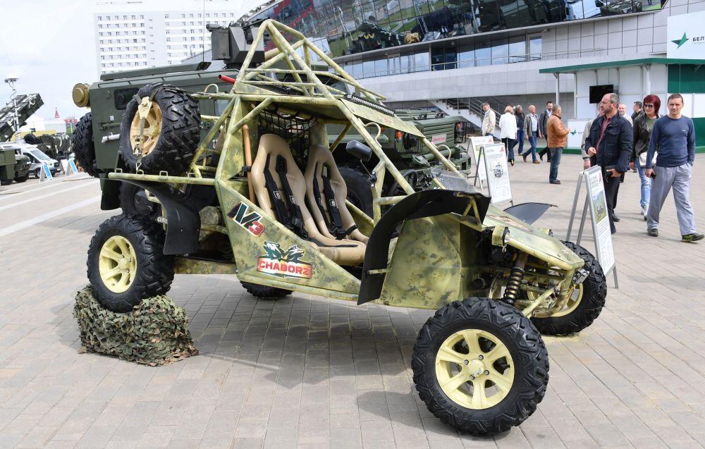 Buggy Čabroz M-3 na mezinárodní výstavě zbraní a vojenské techniky MILEX-2019 v Minsku